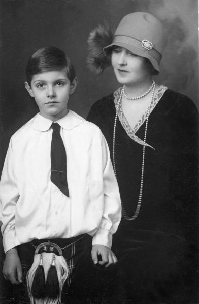 Lady Patricia Ramsay, formerly Princess Patricia of Connaught (1886-1974) with her son, Master Alexander Ramsay of Mar (1919-2000) around 1927. Lady Patricia chose to marry one of her father's ADCs, the Hon. Alexander Ramsay. When her father