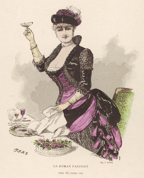 A lady stands and raises her glass to drink a toast at a festive occasion