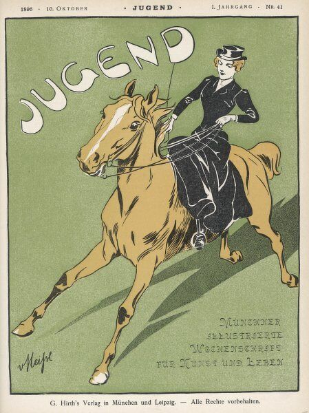 Lady riding sidesaddle