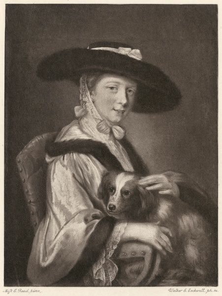 LADY SUSAN O'BRIEN (nee Strangeways) daughter of the first earl of Ilchester, wife of the actor William O'Brien, with her dog