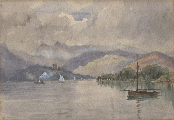 View of the Lake District circa 1910s