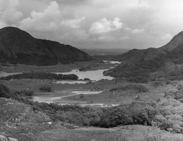 A fine general view of the Lakes of Killarney, County Kerry, Ireland, one of the most beautiful areas in the country. Date: 1950s