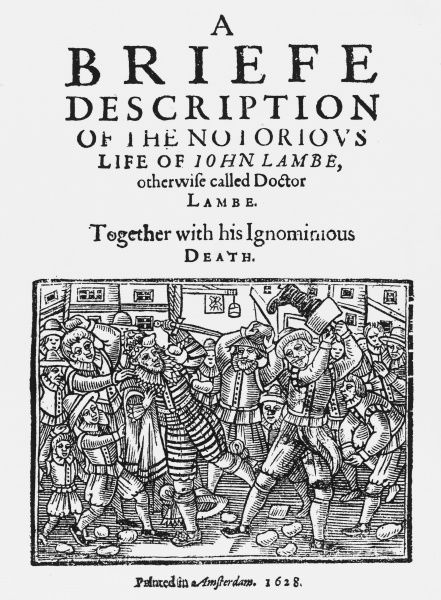 Title-page of 'The Life of John Lambe', a famous astrologer of the 17th century