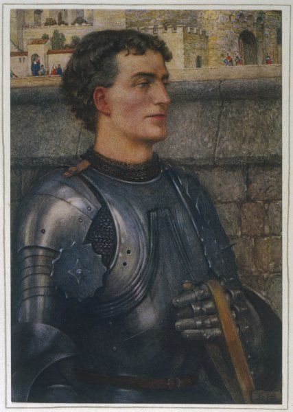 Sir Lancelot goes to Guinevere as ambassador