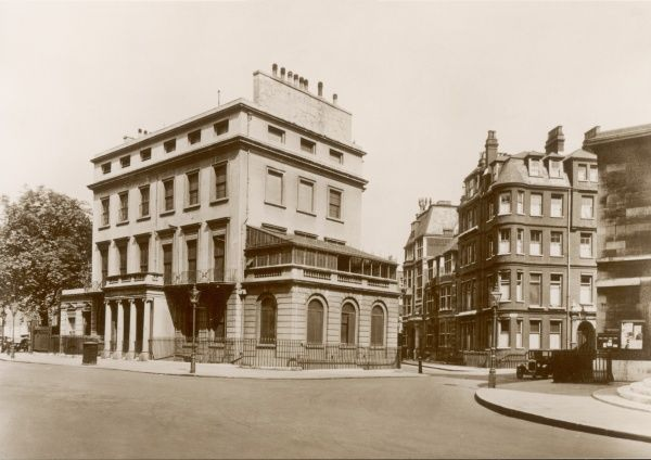 Foley House in Langham Place, as it looked before Broadcasting House was built on the site in London, England