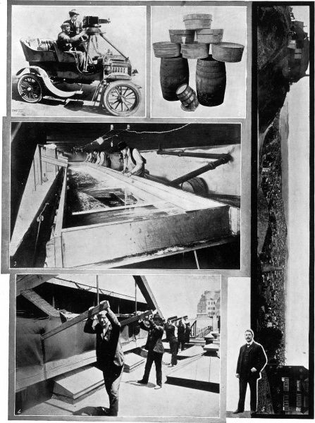 The largest single photograph produced in 1907. The negative measured seven inches wide and six feet long. At the moment of exposure the film moved at 20 to 80 inches per second, capturing a panoramic landscape. Special apparatus was constructed to take