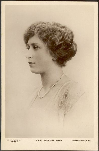 PRINCESS MARY later VISCOUNTESS LASCELLES at the time of her marriage