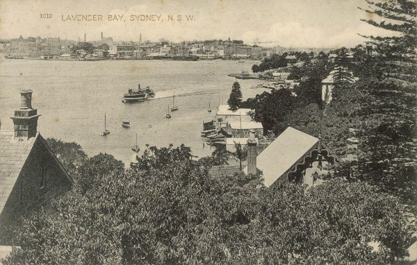 Lavender Bay, Sydney, New South Wales, Australia in 1913