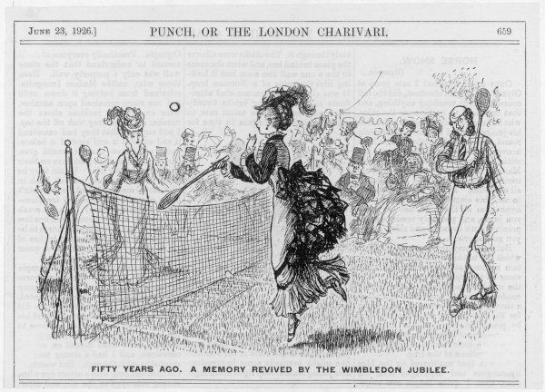 Punch looks back at 50 years of tennis. Date: 1876