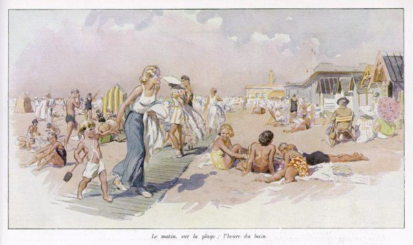 Le Touquet: holidaymakers on the beach