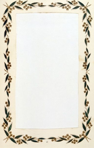 A simple border of leaves and flowers. Date: circa 1880