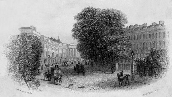 Lower Parade and Euston Place, Leamington Spa, Warwickshire Date: 1843