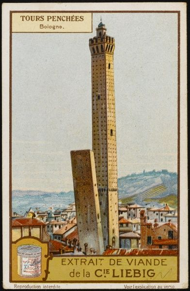 Leaning towers of Bologna, Italy - La Garidenda and Torre degli Asinelli