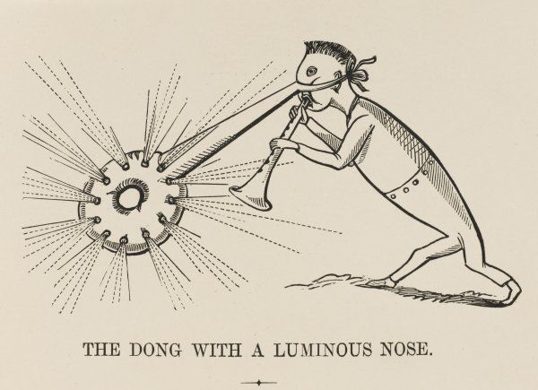 THE DONG WITH A LUMINOUS NOSE Playing his pipe