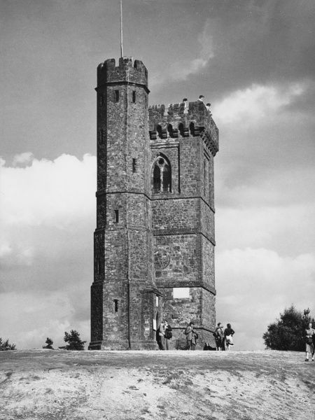 Leith Hill Tower, Surrey, the highest point in the county, built in 1766 by Richard Hull, as a viewpoint. Legend has it that his last request was to be buried upside down in it
