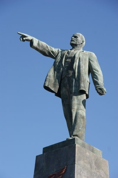 Statue of the Communist leader Vladimir Ilyich Lenin (1870-1924) on the Lenin Monument in Sevastopol, Ukraine