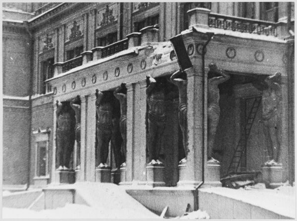 Damage to the Hermitage Museum from German bombing