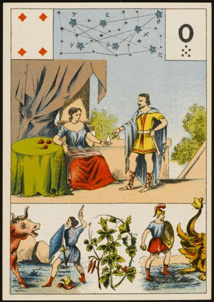 GRAND JEU DE MLLE. DE LENORMAND Consulting a soothsayer in ancient times