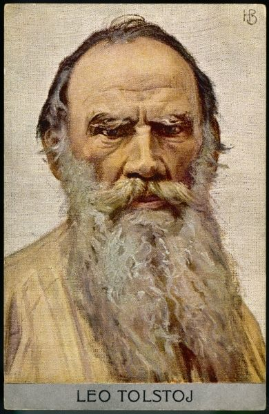 Leo Tolstoy (Count Lyev Nikolayevich Tolstoy), Russian novelist, essayist, dramatist and educational reformer