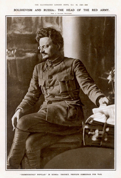 LEON TROTSKY or LEV DAVIDOVICH BRONSTEIN Russian Communist leader in 1920, at the height of his popularity as the People's Commissar for War
