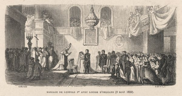 Leopold marries - she's his second wife - Louise d'Orleans, daughter of Louis Philippe