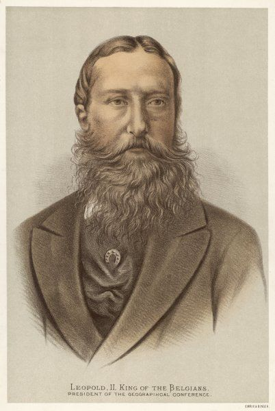 LEOPOLD II King of Belgium (1865-1909) and President of the Geographical Conference