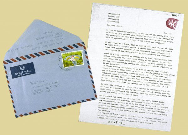 A LETTER FROM 'UMMO' to researcher Hilary Evans : purporting to be a group working with aliens, this Spanish organisation was almost certainly a hoax