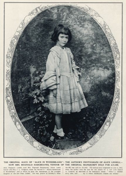 Photograph taken by Lewis Carroll (the Rev. C.L. Dodgson) of the original 'Alice' of 'Alice in Wonderland' - Alice Liddell, c.1862