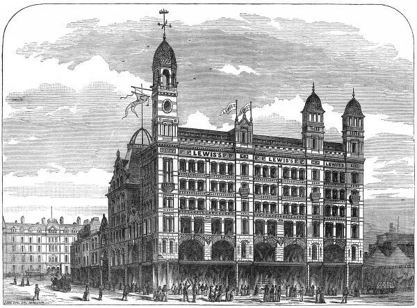An advertisement for Lewis department store, in Ranelagh Street, Liverpool