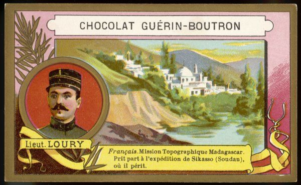LIEUTENANT LOURY French explorer in Madagascar and in the Sudan where he died