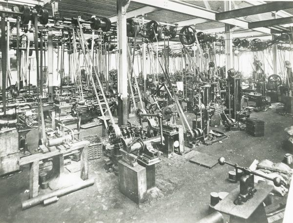 Some of the light work machine tools at the Napier works at Acton in January, 1904 Date: 1904