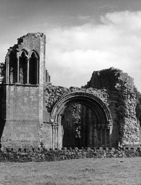The ruins of Lilleshall Abbey, Shropshire, England, the splendid Norman abbey which was founded in 1145 for Augustinian Canons. Date: 12th century