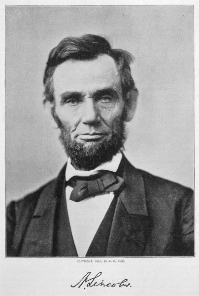 ABRAHAM LINCOLN U.S. President in 1864