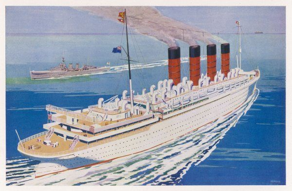 Passenger liner of the Cunard White Star line, she held the Blue Riband for 21 years ; she was withdrawn from service and broken up in 1935