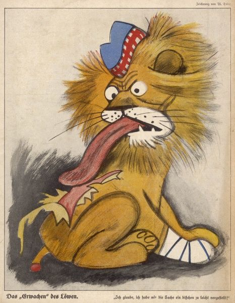 The British lion licks its wounds