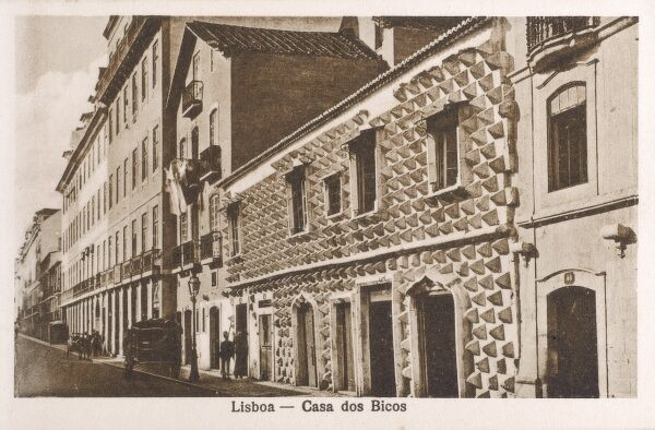 Lisbon, Portugal - Casa dos Bicos ('House of the Spikes') - built in the early 16th century in the Alfama neighbourhood, this building a curious facade of Renaissance and Manueline influence