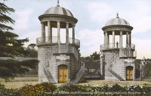 Lisbon, Portugal - Entrance to the Zoological Gardens Date: circa 1910s