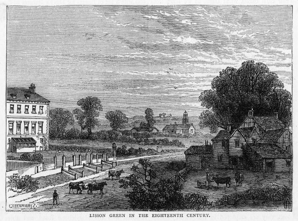 Lisson Green, London, looking very rural in the 18th century