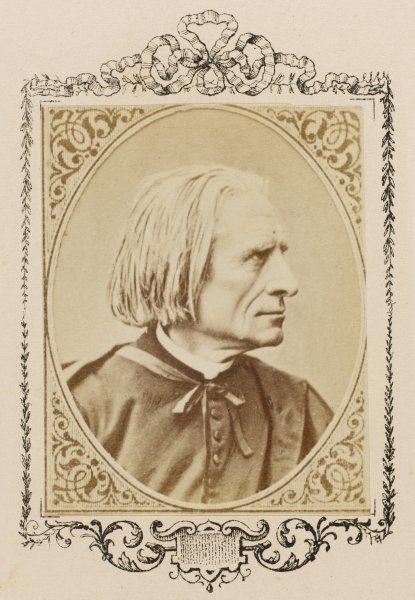 FRANZ LISZT the Hungarian composer and musician in old age