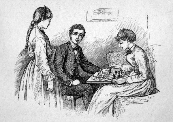 A game of chess. Date: First published: 1868
