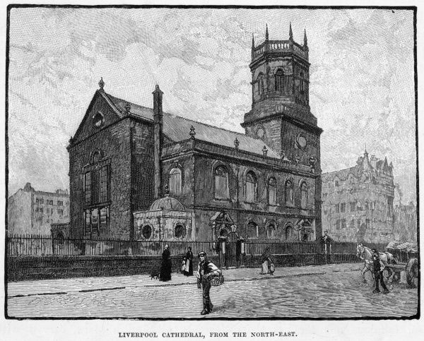 The old cathedral, Liverpool, Merseyside, no bigger than a parish church : no wonder they built a splendid new one