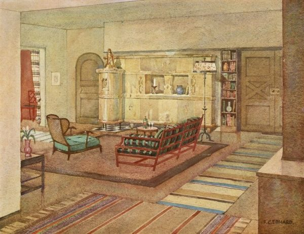 A well designed living room by Fr.Gebhard