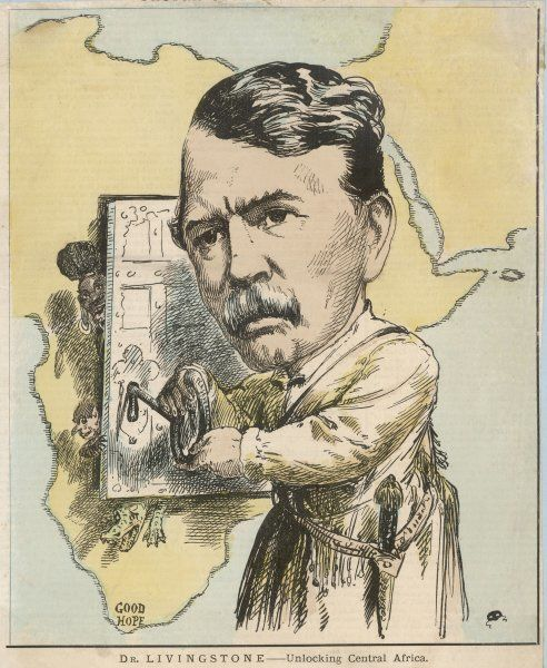 DAVID LIVINGSTONE depicted in the act of unlocking Central Africa