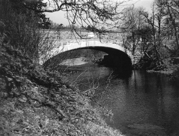 The bridge over the River Ithon at Llanddewi, Radnorshire, Wales. Date: 1960s