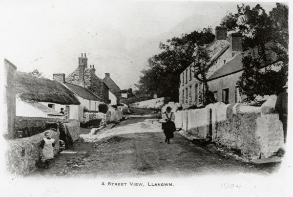 Street scene in the picturesque village of Llangwm, near Haverfordwest, Pembrokeshire, Dyfed, South Wales. The village is located on the western bank of the Cleddau Estuary, and had a strong fishing industry for many years