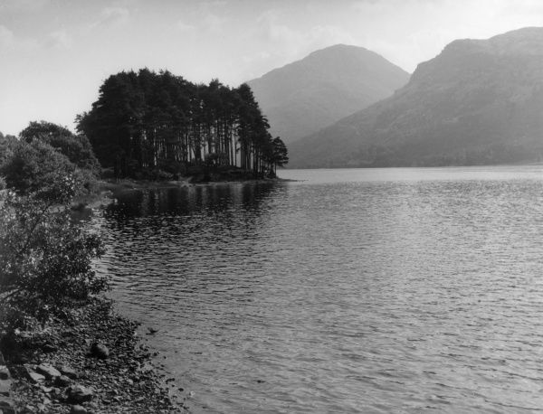 The tranquil waters of Loch Eck, Argyllshire, Scotland. Date: 1930s