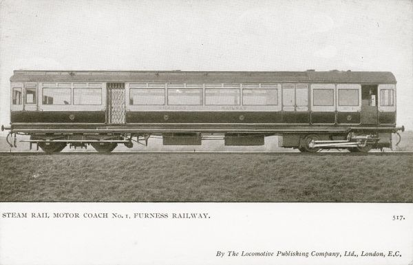Locomotive no 1 steam rail motor coach Date