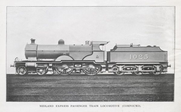 Locomotive no 1025 4 coupled compound engine Date