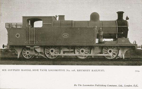 Locomotive no 108 six coupled radial side tank locomotive 0-6-2 Date