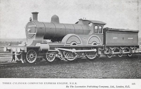 Locomotive no 1619 3 cylinder compound express engine Date